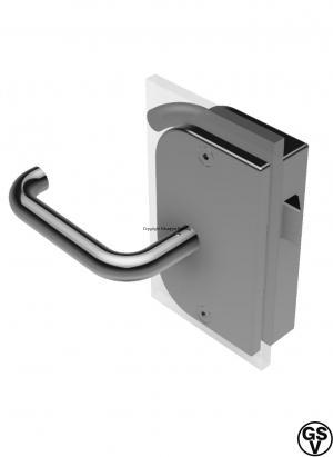 Glass door rim lock right hand outward for heavy glass doors stainless steel / GSV-Nr. 9714