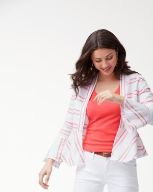 Marcella Stripe Linen Jacket