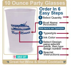 10 Oz Frosted Squeezable Personalized Glasses