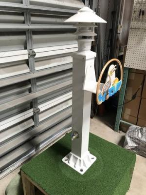 DECORATIVE ALUMINUM HOSE STATION w/ Pagoda DOCK Light – Broward Casting