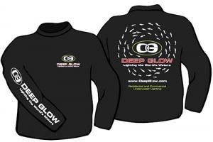 Deep Glow Black Long Sleeve T-Shirt
