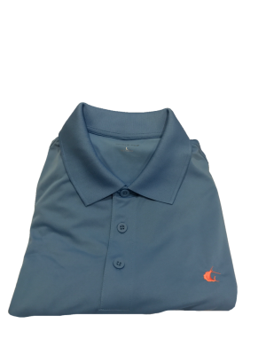 Contender Blue Lake Performance Polo Shirt for Men w/ Coral Sailfish