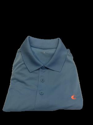 Contender Blue Lake Performance Polo Shirt for Men w/ Coral Sailfish