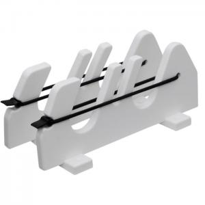 2 Rod Gunwale Mount Speargun Holder With Bungee   Boat Outfitters