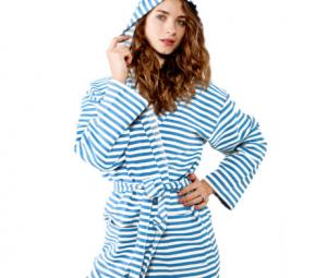 Stripe Cotton Robe