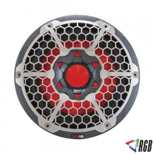 "HYDRO 10"" MARINE SUBWOOFER WITH INTEGRATED RGB LIGHTS 600 WATTS BLACK CARBON FIBER ITEM # CF10SUB"