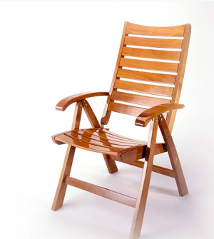 Custom Collection Teak 5-Position Recliner