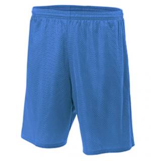 N5296 A4 Adult Nine Inch Inseam Mesh Short