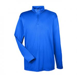 8424 UltraClub Men's Cool & Dry Sport Performance Interlock Quarter-Zip Pullover