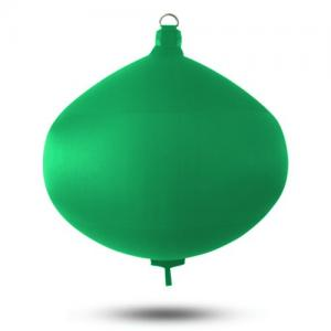 Spherical green boat fender, extra strong