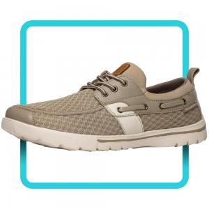 Del Marina by Skuze Shoes - Tan & Beige - Stretch Fit