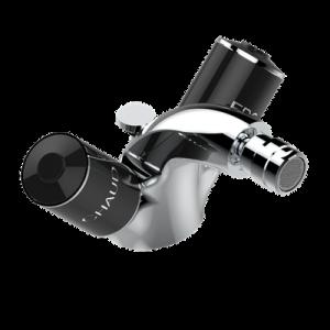 Single hole bidet faucet with drain | G2L-3202/US — Faubourg black porcelain — THG