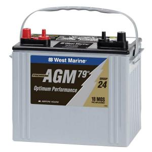 WEST MARINE Group 24 Dual-Purpose AGM Battery, 79 Amp Hours