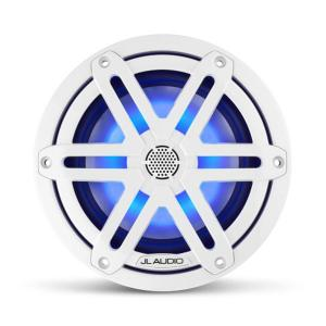 "JL AUDIO M3-650X-S-Gw-i 6.5"" Marine Coaxial Speakers, White Sport Grilles with RGB LED Lighting"