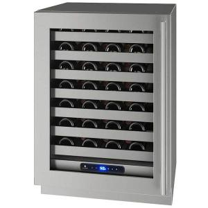 "U-LINE 24"" 5 Class Stainless Wine Captain with Lock, Left Hinged"